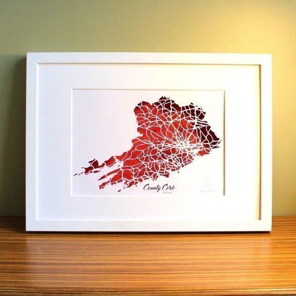 Co Cork map framed