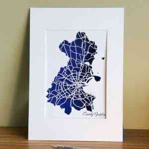 Co Dublin map unframed