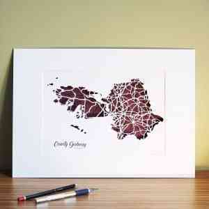 Co Galway map unframed