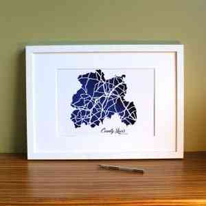 Co Laois map framed