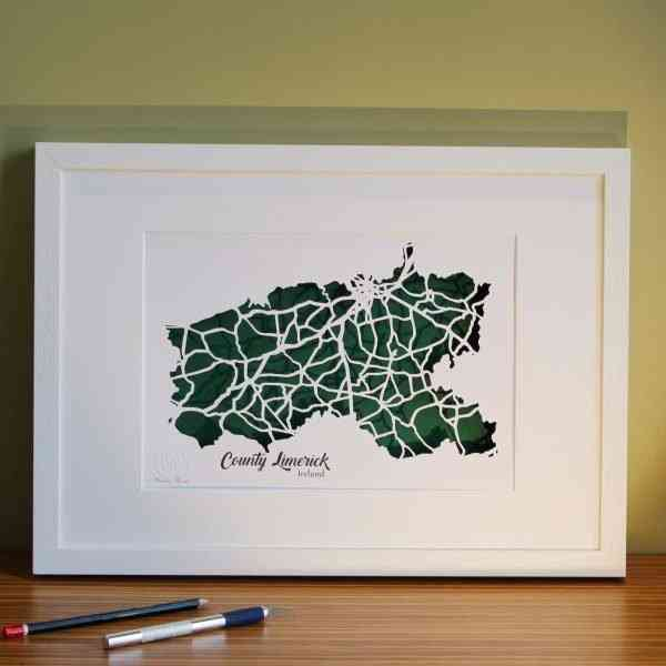 Co Limerick map framed