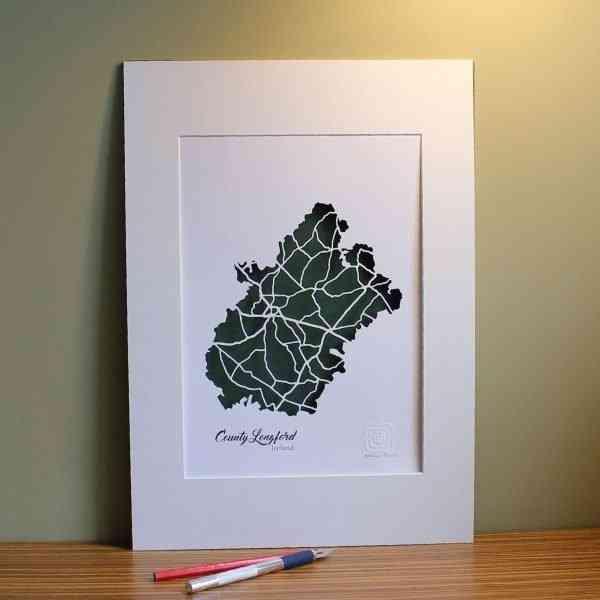Co Longford map unframed