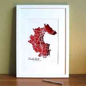 Co Louth map framed