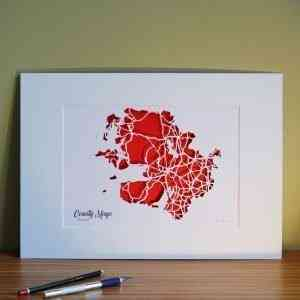 Co Mayo map unframed