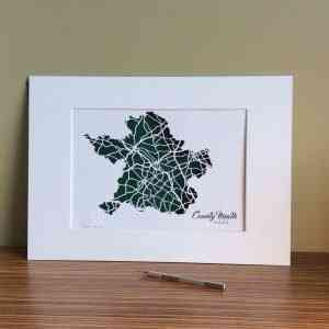 Co Meath map unframed