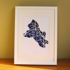 Co Monaghan map framed