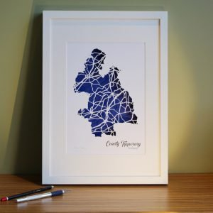 Co Tipperary map framed