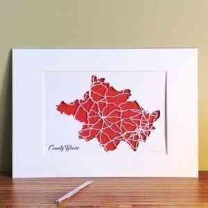 Co Tyrone map unframed