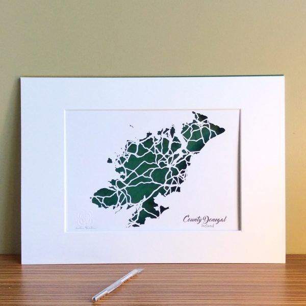 Donegal map unframed