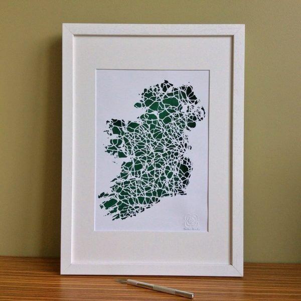 Ireland map framed