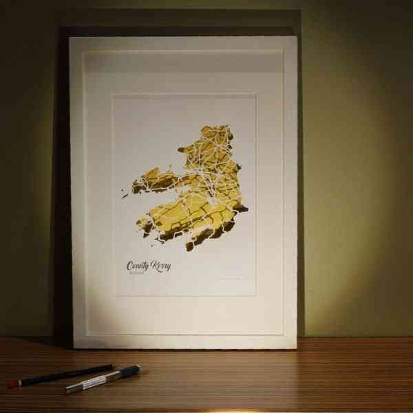 Kerry map framed
