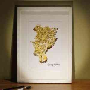 Kildare map framed