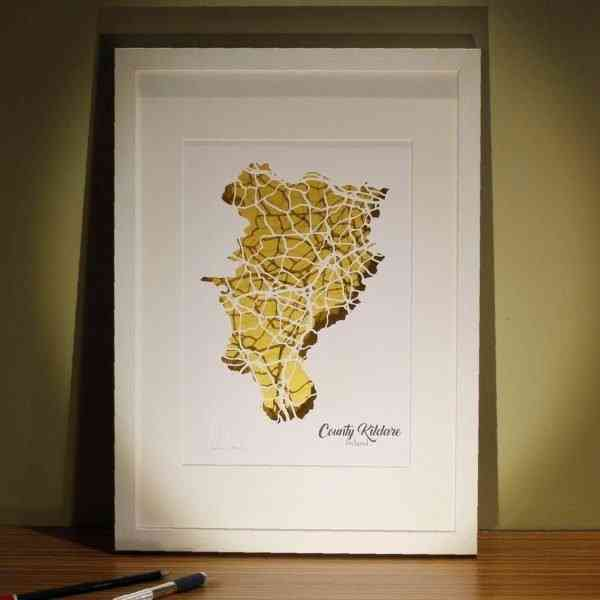 Kildare map framed