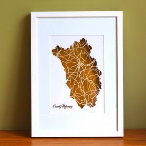 Kilkenny county map framed