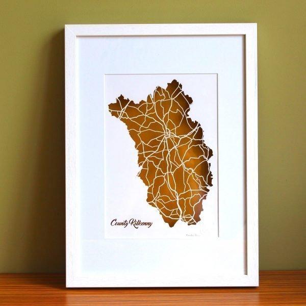 Kilkenny county map framed
