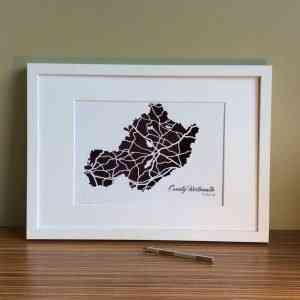 Westmeath map framed