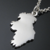 Sterling Silver Handcrafted Ireland Map Pendant
