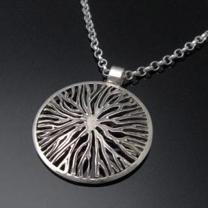 Large Contemporary Tree of Life Pendant
