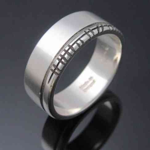 Handcrafted Personalised Ogham Ring - Polished