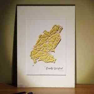wexford county map unframed