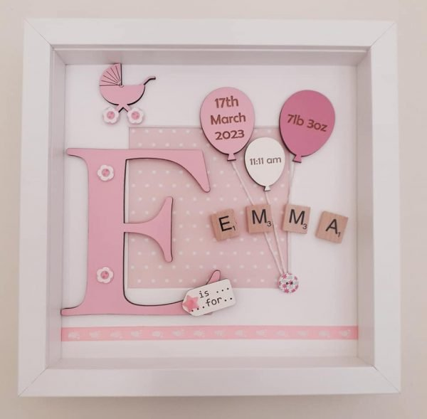 New Baby Girl Picture Frame