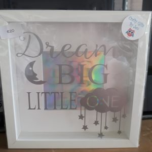 dream big little one new baby frame christening gift