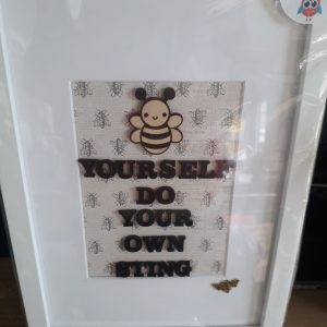 Be yourself frame wall art crafty gifts by jen