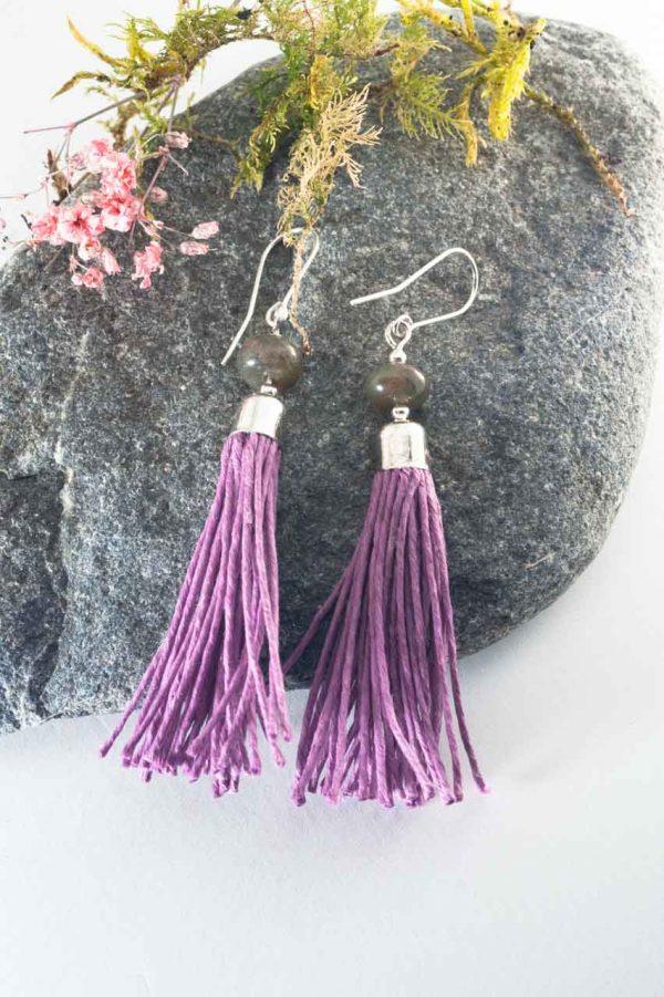 Agate Tassel Earrings - Agate Tassel Earrings Ertisun Jewellery 2