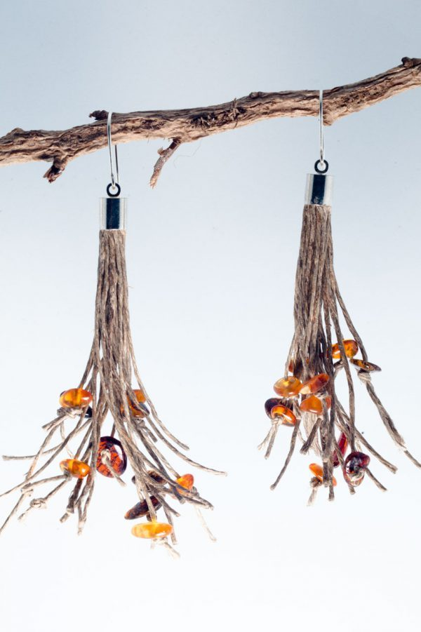 Amber Tassel Earrings - Amber Tassel Earrings Ertisun Jewellery 2