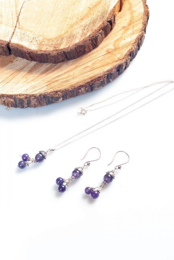 Amethyst in the Embrace of Silver - Amethyst in the embrace of silver Handmade Jewellery
