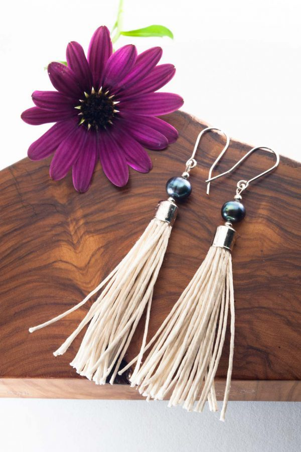 Water Pearl Tassel Earrings - Blua Water Pearl Earrings Ertisun Jewellery 10