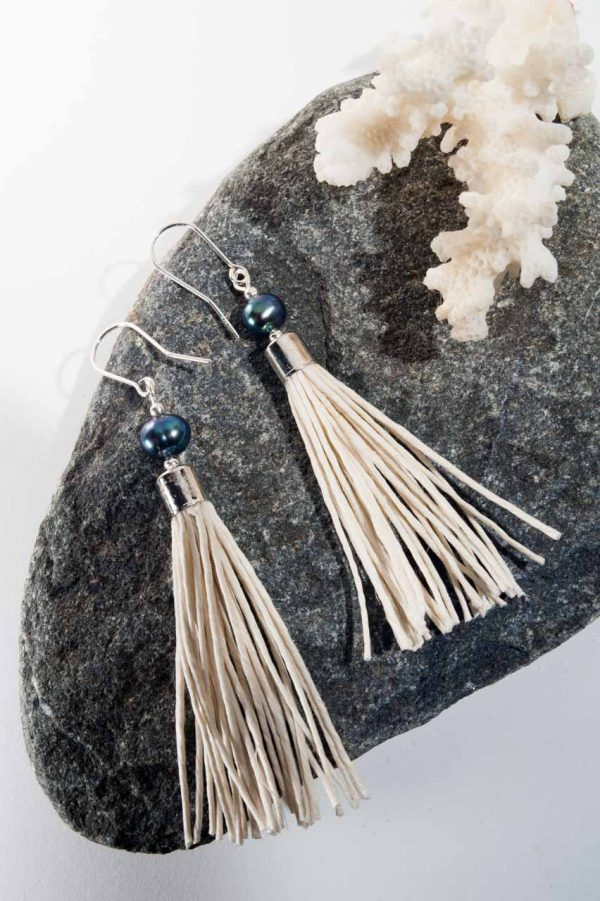 Water Pearl Tassel Earrings - Blua Water Pearl Earrings Ertisun Jewellery 3