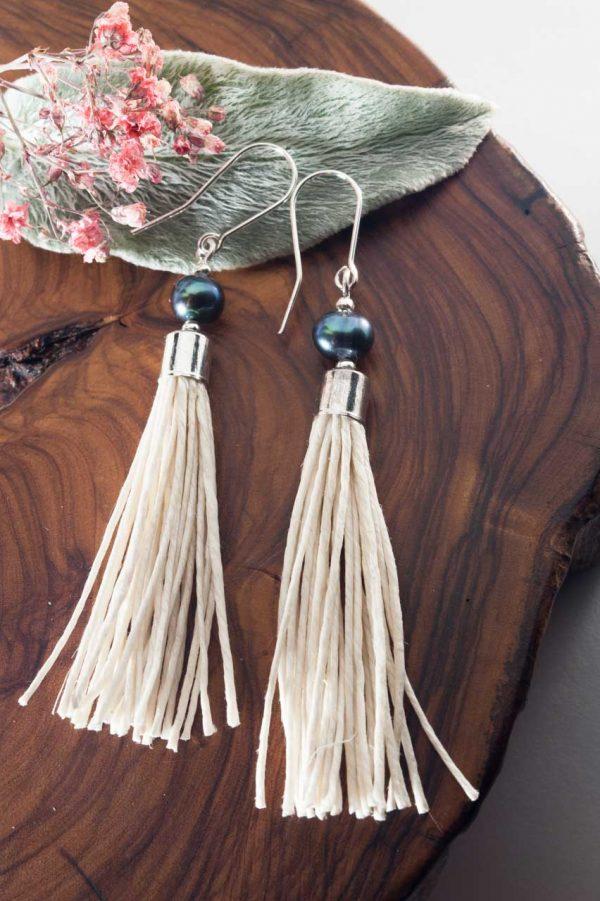 Water Pearl Tassel Earrings - Blua Water Pearl Earrings Ertisun Jewellery 4