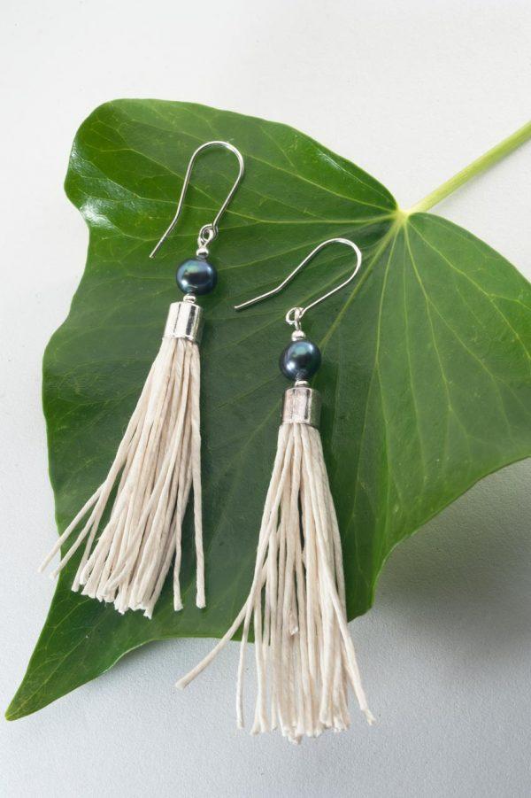Water Pearl Tassel Earrings - Blua Water Pearl Earrings Ertisun Jewellery 5