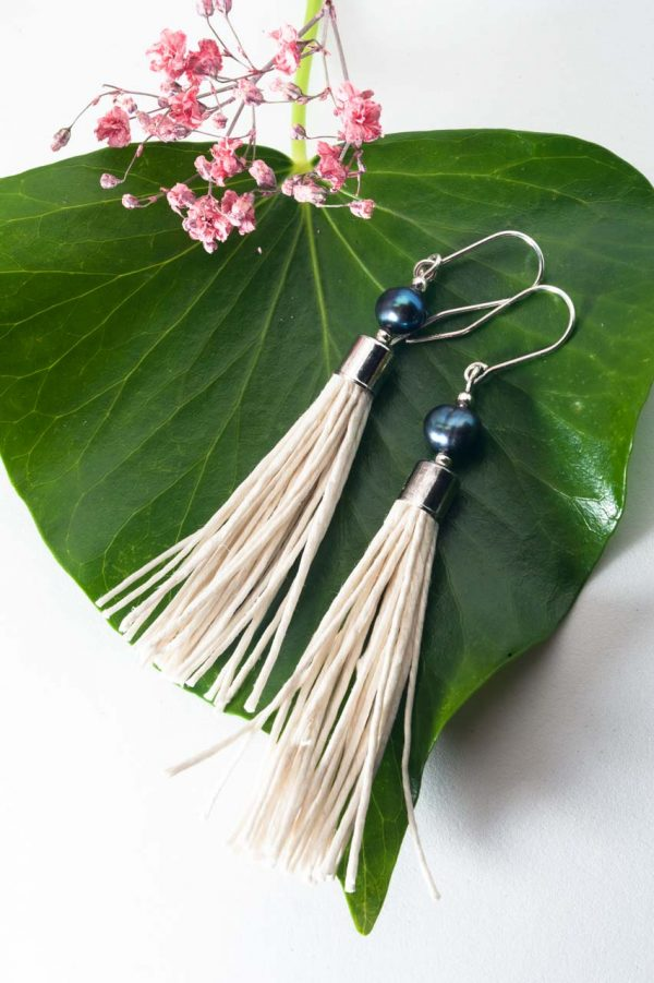 Water Pearl Tassel Earrings - Blua Water Pearl Earrings Ertisun Jewellery 6
