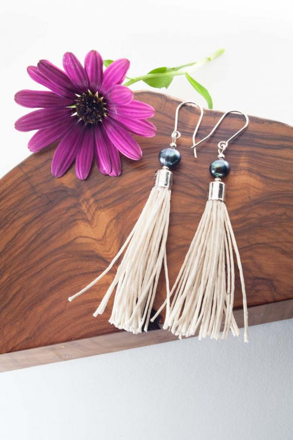 Water Pearl Tassel Earrings - Blua Water Pearl Earrings Ertisun Jewellery 8