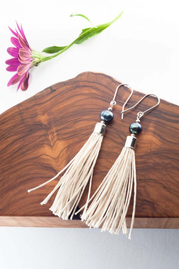 Water Pearl Tassel Earrings - Blua Water Pearl Earrings Ertisun Jewellery 9