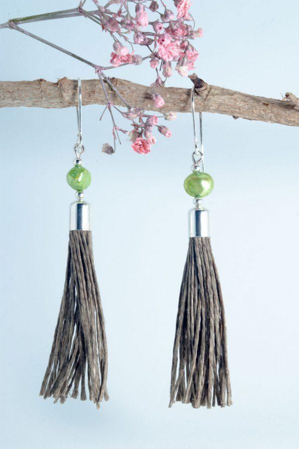 Green Pearl Tassel Earrings - Green Pearl Earrings Ertisun Jewellery 600x901 1