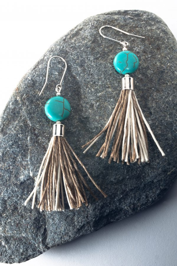 Round Howlite Tassel Earrings - Howlite Tassel Earrings Edyta Rosinska Ertisun 3