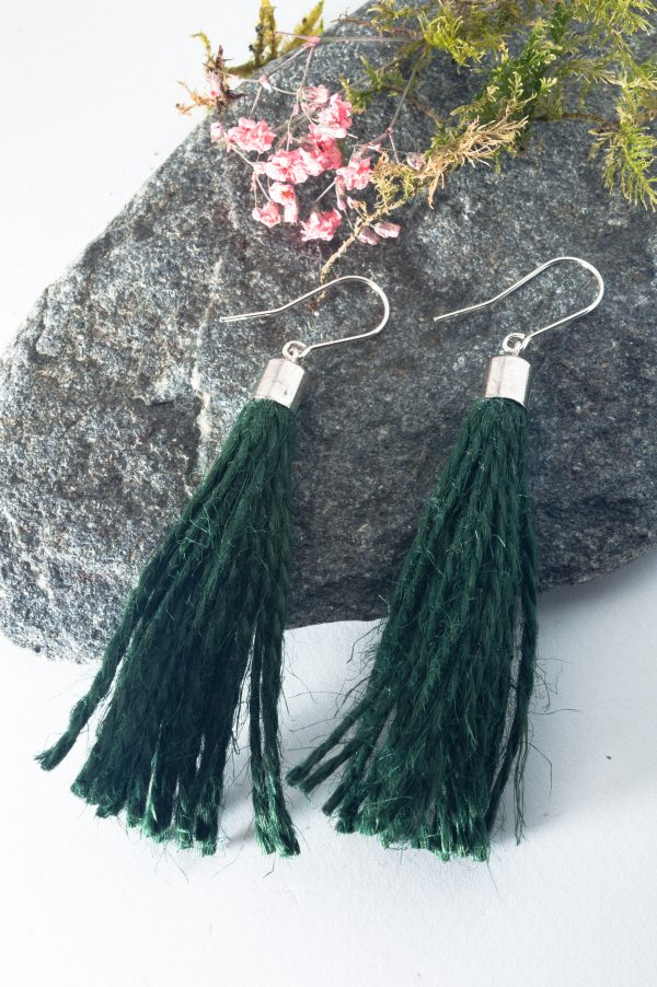 Jute String Earrings - Jute Cord Tassel Earrings Edyta Rosinska Ertisun 2