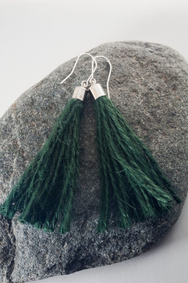 Jute String Earrings - Jute Cord Tassel Earrings Edyta Rosinska Ertisun