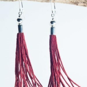 Metal Beads Tassel Earrings