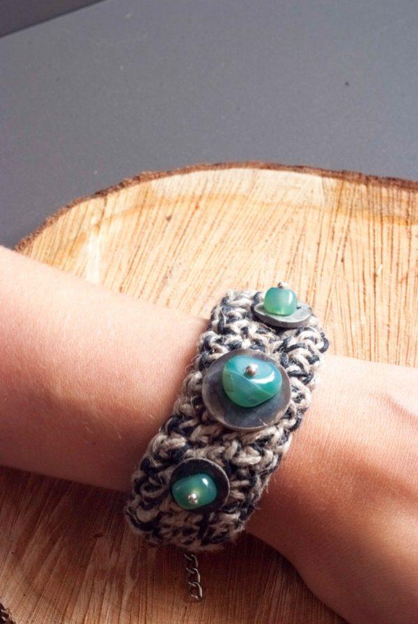 cuff bracelet by ertisun handmade in ireland