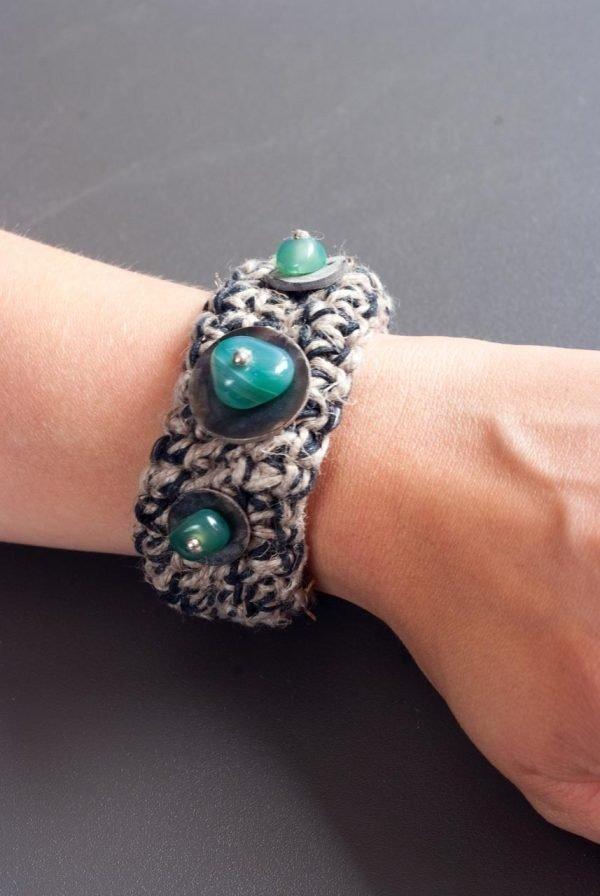 ertsun handmade jewellery with grey and blue
