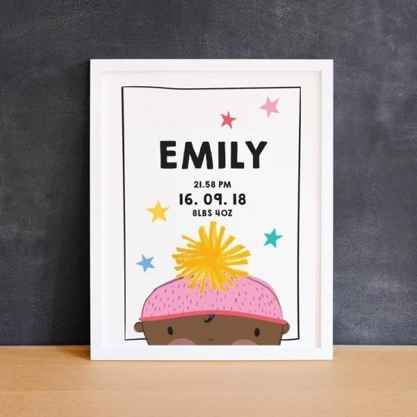 baby girl personalised gift by pickled pom pom