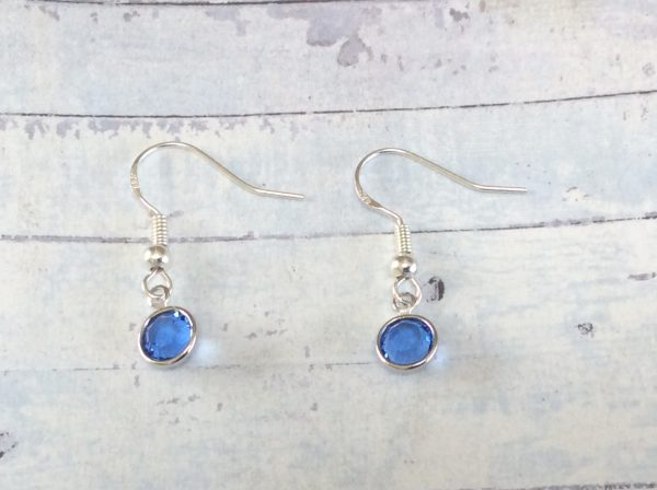 Silver Birthstone Earrings Laurannabelle handmade jewellery