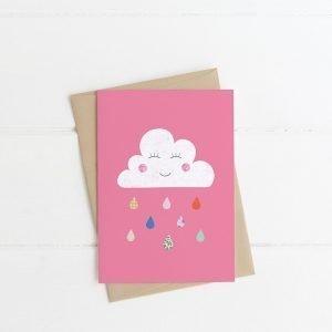 raindrops card lilly & bright Irish design