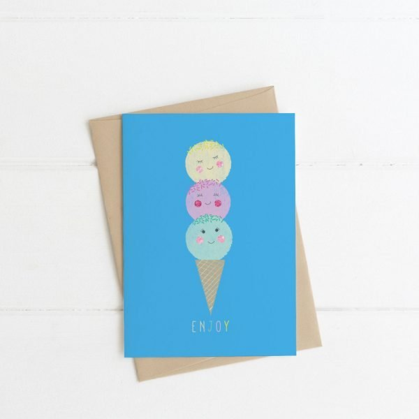 icecream card enjoy greeting card lilly & bright