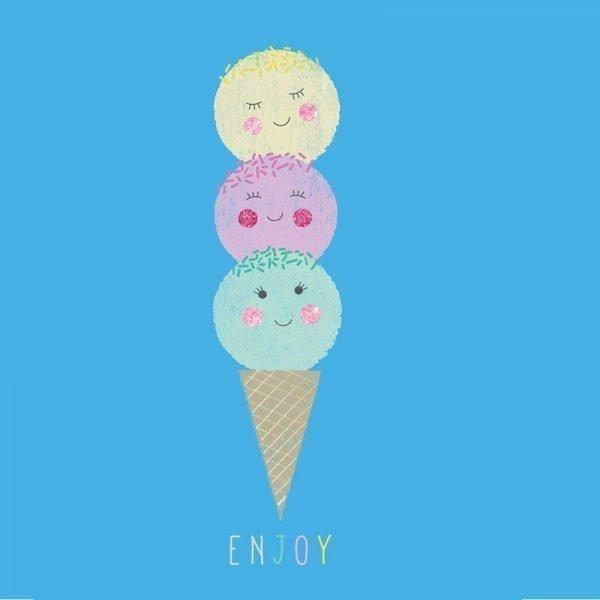 ENJOY - Greeting Card - 02ice cream