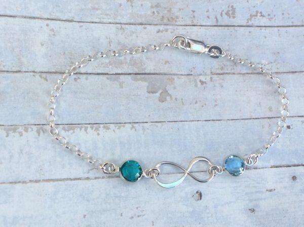 Silver Infinity Bracelet Personalised jewellery handmade in Ireland Laurannabelle